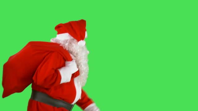 hd: santa natale - babbo natale video stock e b–roll