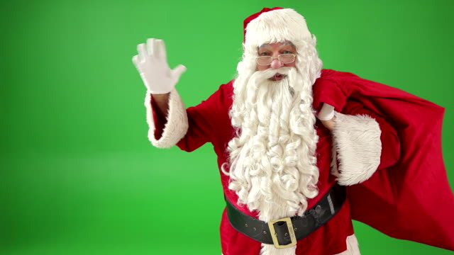 Santa Claus waving video