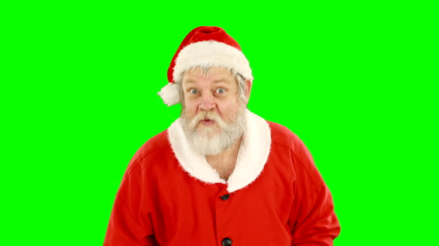 Santa claus with finger on lips video