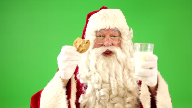 Santa Claus with Milk and Cookie video