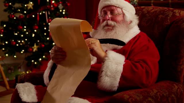 Santa Claus writes on list video