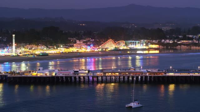 Santa Cruz at Night - Drone Shot