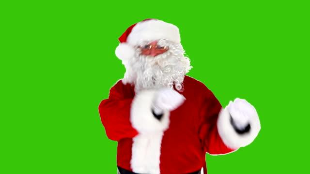 santa dans ren grön skärm loop - jultomte bildbanksvideor och videomaterial från bakom kulisserna