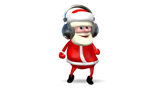 Santa Dancing in Headphones video