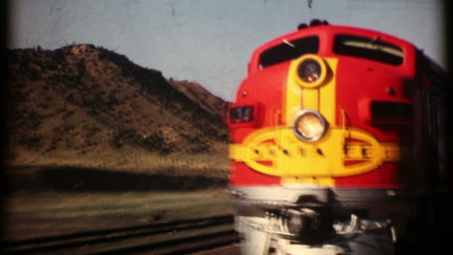 Santa Fe Railroad 1956 16mm (HD1080)