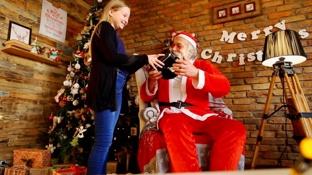 Santa gives cool gift to Italian girl video