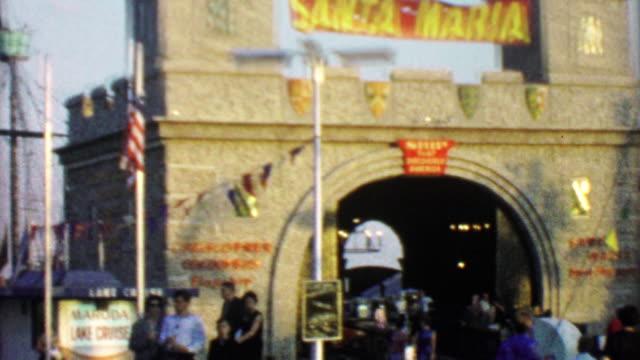 1964: Santa Maria Columbus voyage ship replica at EXPO New York World's Fair. video