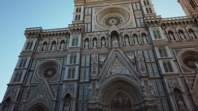 duomo santa maria del fiore - gothic architecture stock videos & royalty-free footage