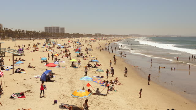 Santa Monica beach California USA video