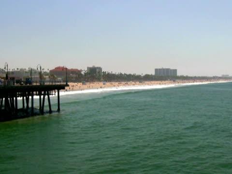 Santa Monica Beach from Pier, Zoom In video