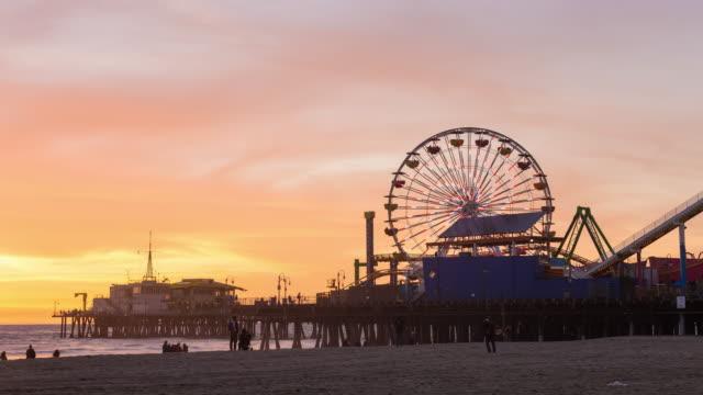 Santa Monica, California Sunset Timelapse video