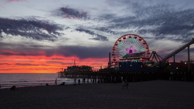 Santa Monica Colorful Sunset video