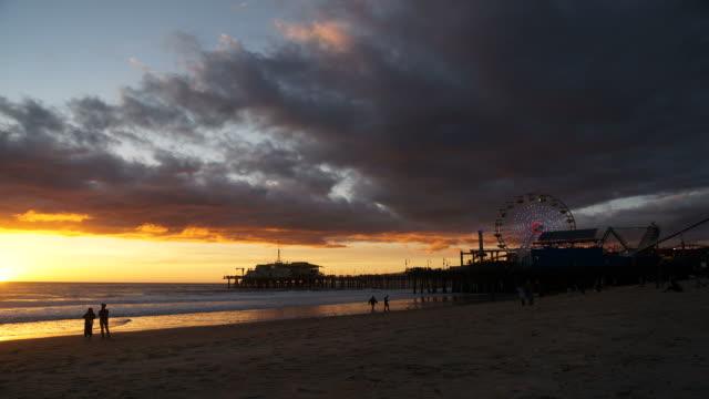 Santa Monica Pier At Sunset video