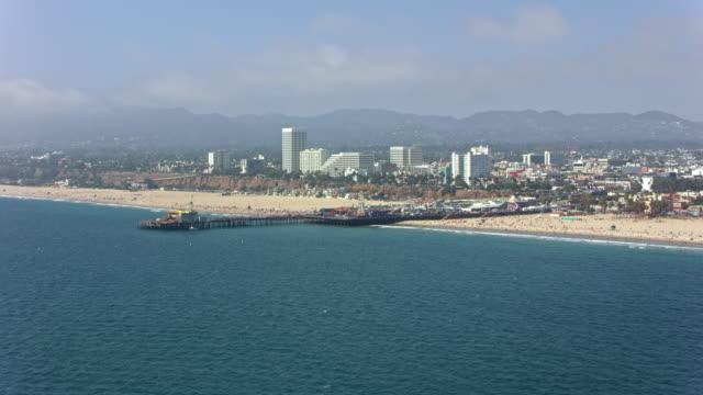 AERIAL Santa Monica Pier in California