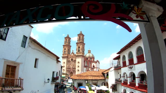 santa prisca, taxco - guerrero video stock e b–roll