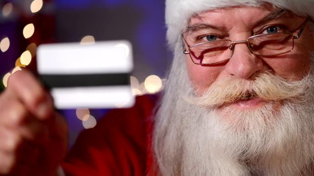 Santa With Credit Card, close-up