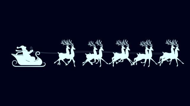 santa with reindeer isolated - santa bildbanksvideor och videomaterial från bakom kulisserna