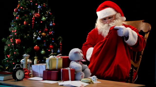 Santa with sack video