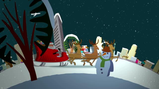 Santa's ride through New York video