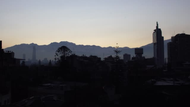 Santiago city at morning, Chile - South America video