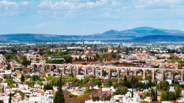Santiago de Queretaro Aqueduct Mexico video
