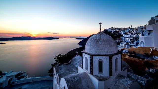 Santorini church time-lapse video