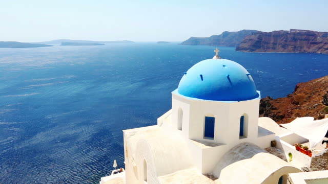 HD: Santorini famous churches video