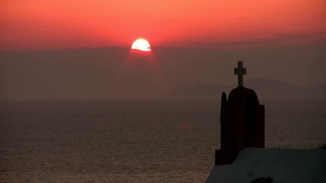 Santorini, Greece, Sunset Time Lapse video