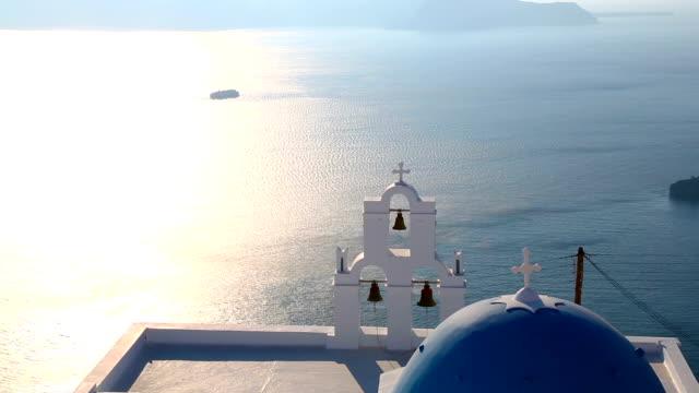 hd: wyspa santorini, grecja - morze egejskie filmów i materiałów b-roll