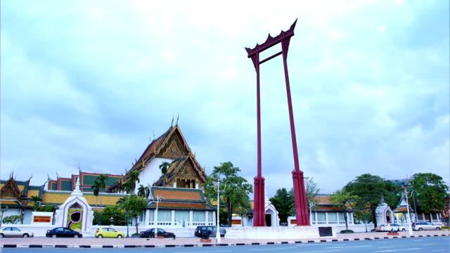 Sao Chingcha landmark of Bangkok ,Thailand video