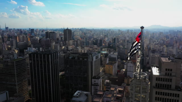 sao paulo downtown aerial view - проспект стоковые видео и кадры b-roll