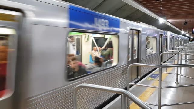 Sao Paulo Subway Very clean and new train são paulo state stock videos & royalty-free footage