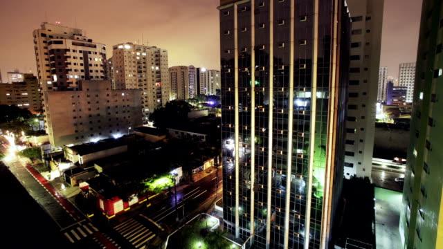 Sao Paulo Time Lapse By Night Hd video
