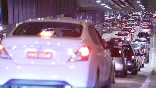 Sao Paulo Cars passing through the tunnel são paulo state stock videos & royalty-free footage