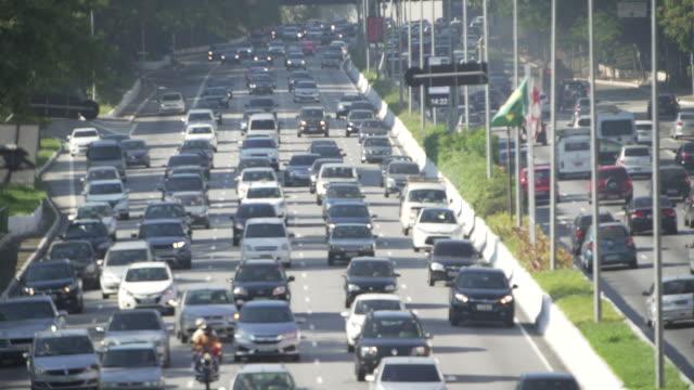 sao paulo´s traffic - 渋滞点の映像素材/bロール