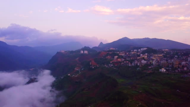 Sapa north of Vietnam, Aerial view flying over Fansipan mountain, Sapa, Vietnam, 4k resolution aerial view footage. Sapa north of Vietnam, Aerial view flying over Fansipan mountain, Sapa, Vietnam, 4k resolution aerial view footage. sa pa stock videos & royalty-free footage