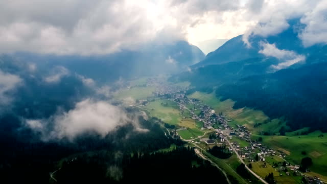 sappada italy north-eastern corner of the dolomites alps. aerial fpv drone flights. - papadam filmów i materiałów b-roll