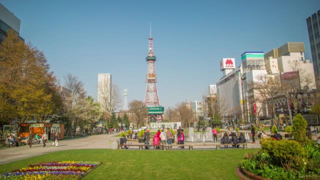 sapporo tower i odori park - hokkaido bildbanksvideor och videomaterial från bakom kulisserna