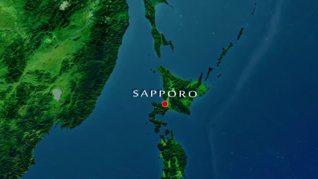 sapporo zooma in - hokkaido bildbanksvideor och videomaterial från bakom kulisserna