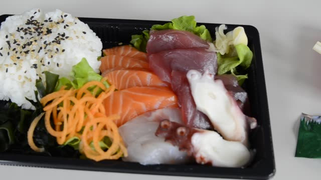 Sashimi, vídeo full hd. - vídeo