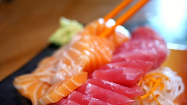 sashimi japanese food - seafood stock videos and b-roll footage