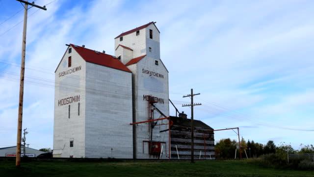 Saskatchewan, Canada graan Lift, een timelapse video