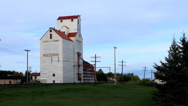 Saskatchewan, Canada graan Lift, timelapse video