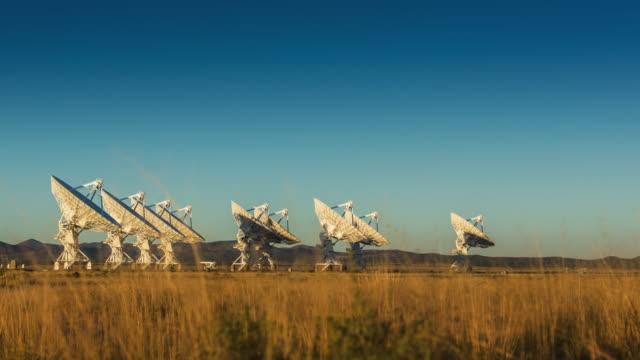 Satellite Array Timelapse at Sunset video