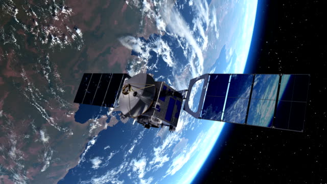 Satellite Deploys Solar Panels In Space video
