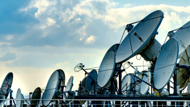 Satellite Dish 4K Time Lapse video