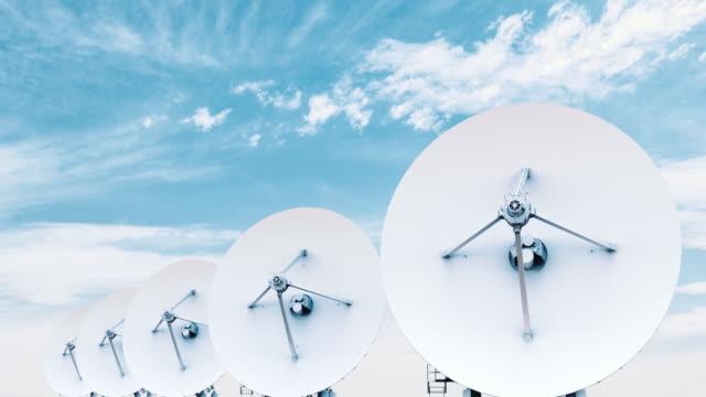 satellit skålen dag - parabolantenn bildbanksvideor och videomaterial från bakom kulisserna