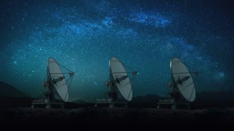 vidéos et rushes de antenne parabolique - en rang