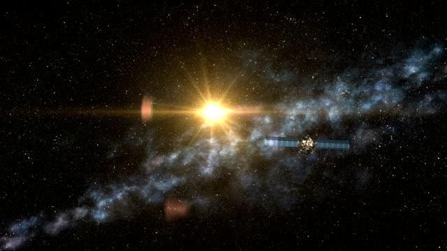 Satellite Flies in Deep Space video