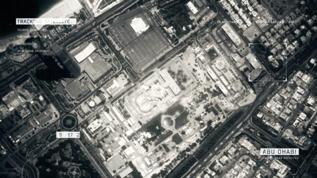 stockvideo's en b-roll-footage met satellietbeeld van abu dhabi - perzische golfstaten
